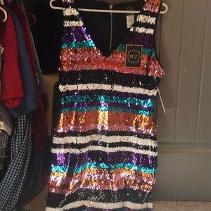 NWT Boutique sequins dress size Medium
